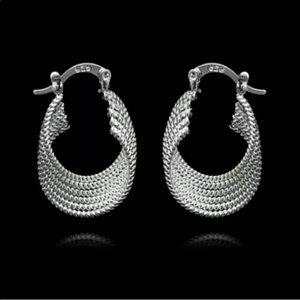 ✅🌹925 Sterling Silver Hoops Earrings.